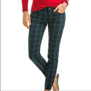 Vineyard Vines green and blue plaid pants size 4